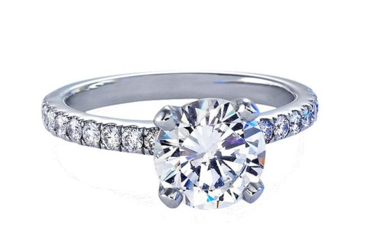 Blue Nile engagement rings Nouveau Diamond