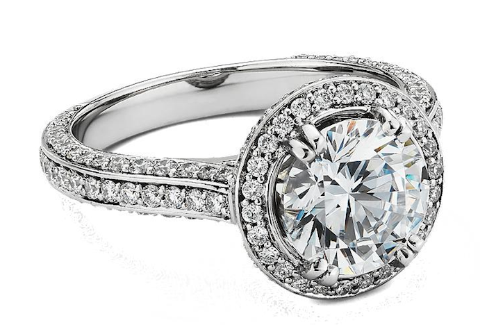Blue Nile engagement rings Heirloom Halo