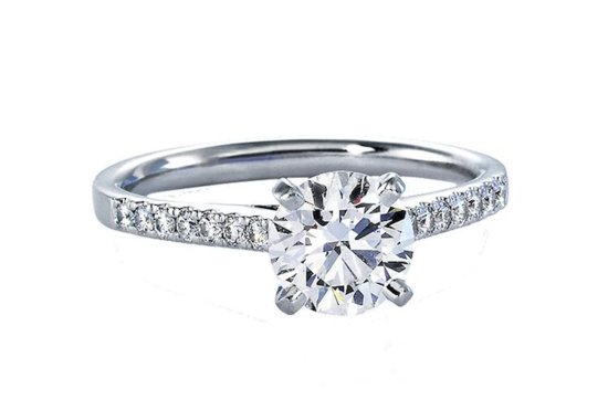 Blue Nile engagement rings Petite Cathedral Pave