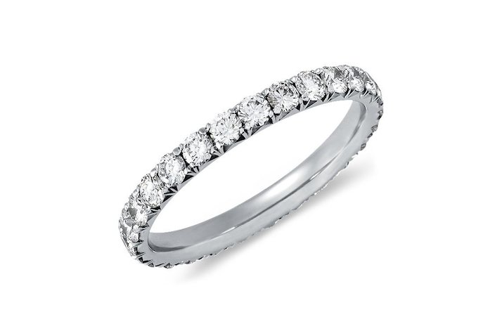 Blue Nile wedding ring French Pave Eternity