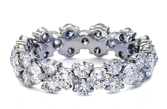 Blue Nile wedding ring Garland Eternity