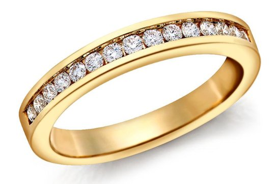 Blue Nile wedding ring Channel Set Yellow Gold
