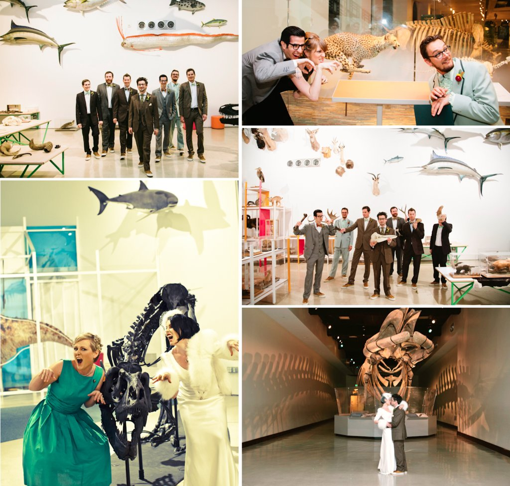 Retro-bride-and-groom-ceremony-vows-at-natural-history-museum-2.full