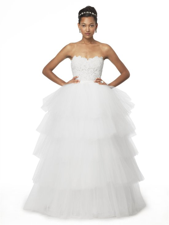 photo of Oscar de la Renta tiered tulle skirt