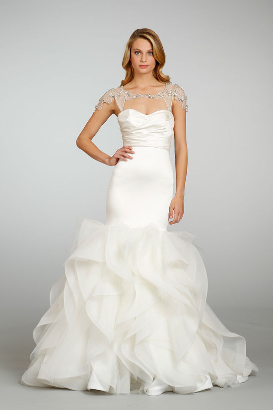 2013 Wedding Dress Trends Bridal Separates Sheer Shrug