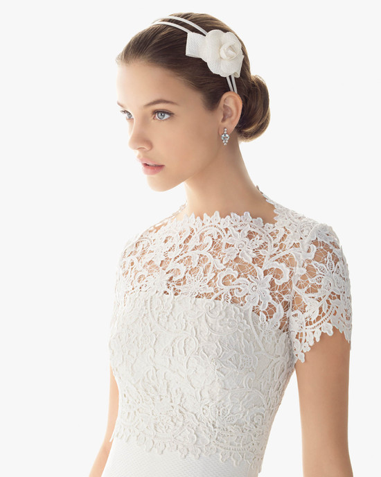 lace bridal top to wear over simple wedding