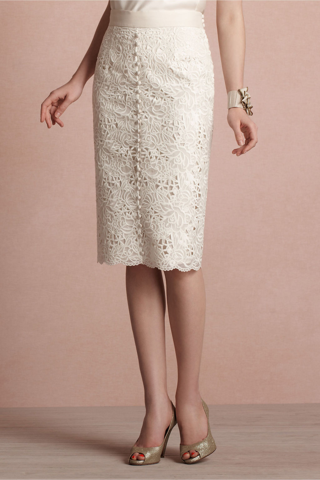 Sheer bridal top from bhldn for Pencil dress for wedding