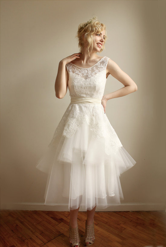 Illusion Neckline Wedding Dress Sheer Lace