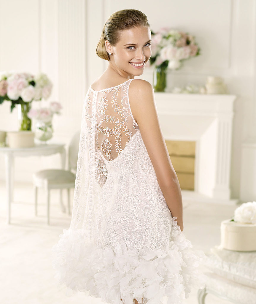 photo of Favorite Illusion Neckline Wedding Gowns of 2013