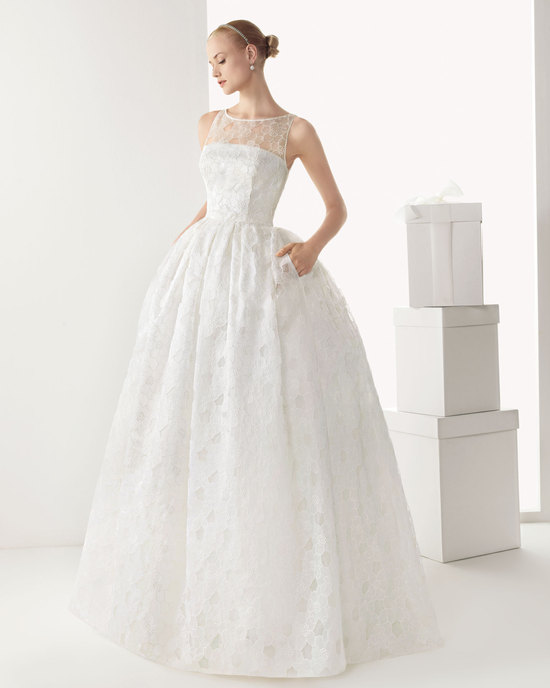 Floral Lace Wedding Dress by Rosa Clara