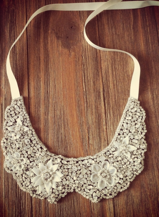 Statement Wedding Necklace Crystallized