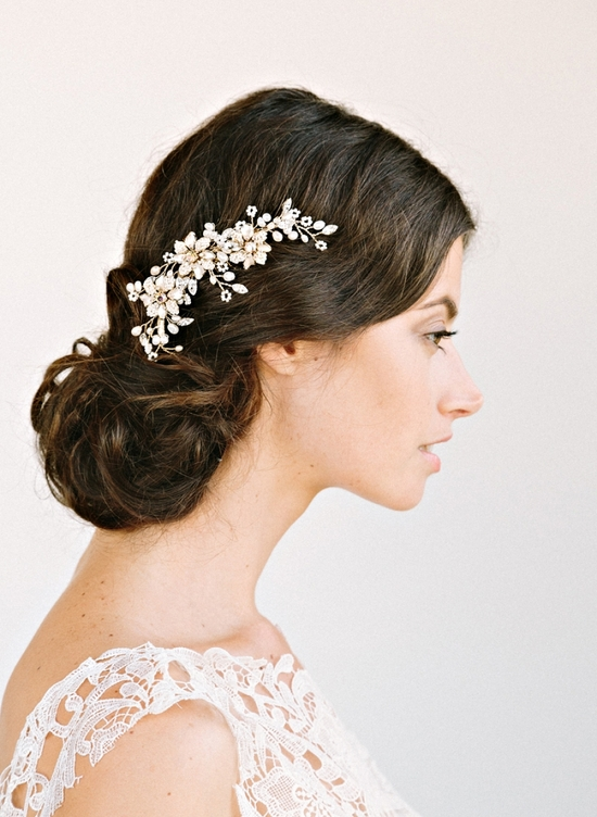 Romantic Bridal Hair Accessory Nature Inspired Comb