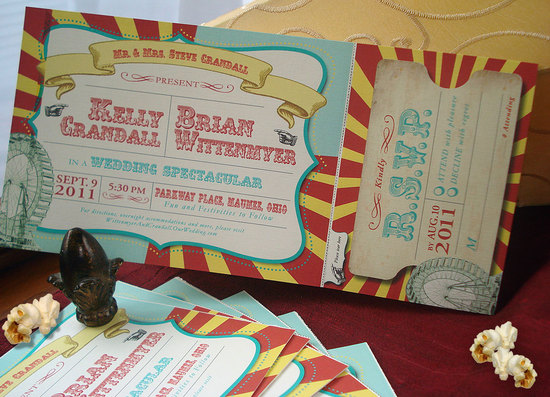 Vintage Big Top Wedding Invitation