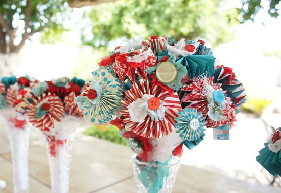 Carnival Theme Wedding ideas fresh flower alternatives