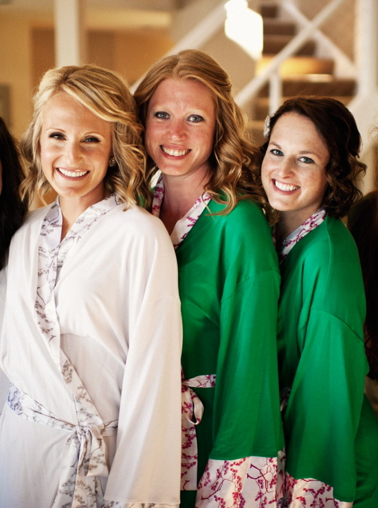 Eco Friendly Robes for Bride and Bridesmaids 1