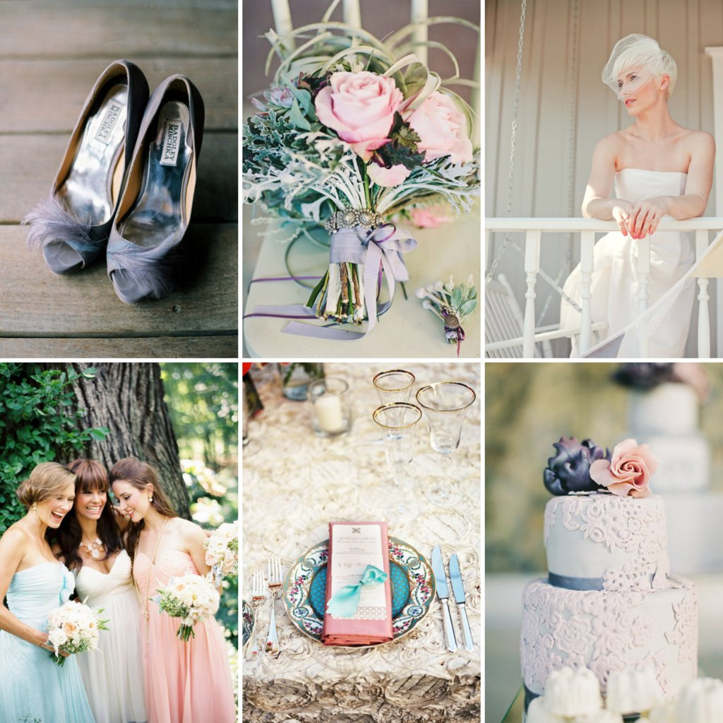 Romantic Wedding Colors Blush Lavendar Pastel Aqua Sage