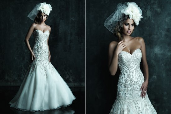 photo of Stunning Sweetheart Neckline Wedding Gowns from Allure Couture, 2013