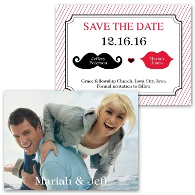 Kissable Photo Save the Date