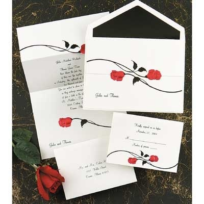 Red Rose Invitation