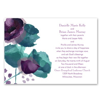 Sultry Blooms - Grapevine - Invitation