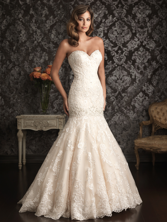 Allure Bridals Wedding Dress Bridal Gown Allure Collection Sweetheart 9018F