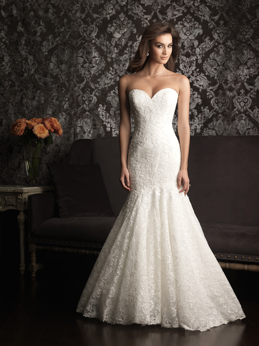 Allure Bridals Wedding Dress Bridal Gown Allure Collection Sweetheart 9023F