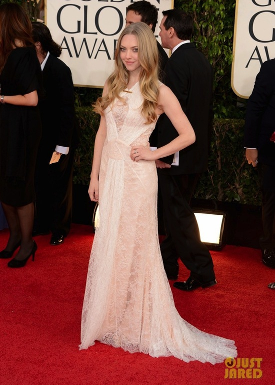 Golden Globes 2013 Wedding Dress Inspiration Amanda Seyfried