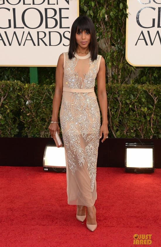 2013 Golden Globes Wedding Dress Inspiration Kerry Washington