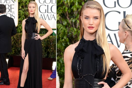 Sleek and Straight Wedding Hair Inspiration Golden Globes 2013