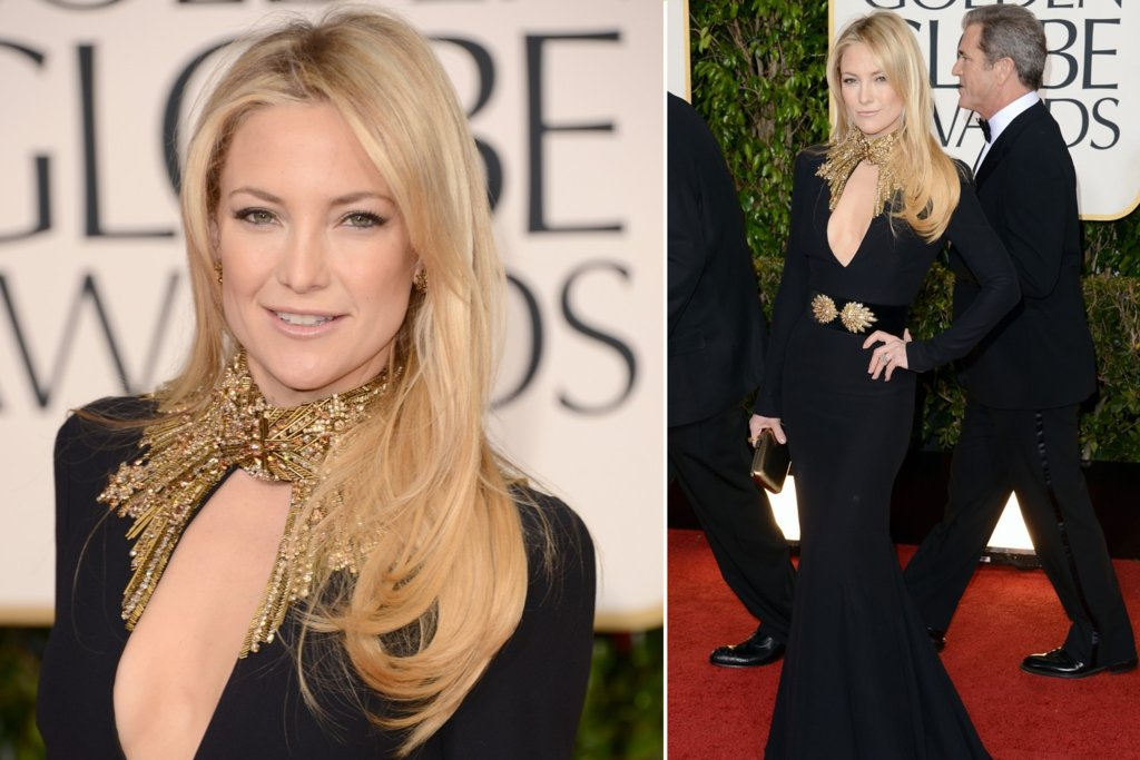 Kate Hudson All Down Wedding hair Golden Globes 2013