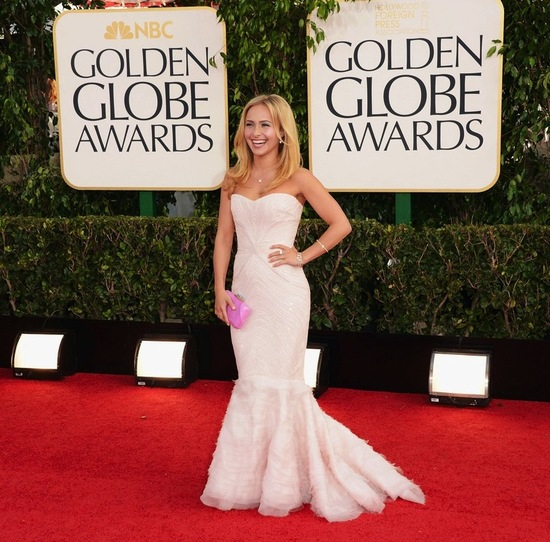 hayden panettiere golden globes 2013 red carpet wedding dress inspiration