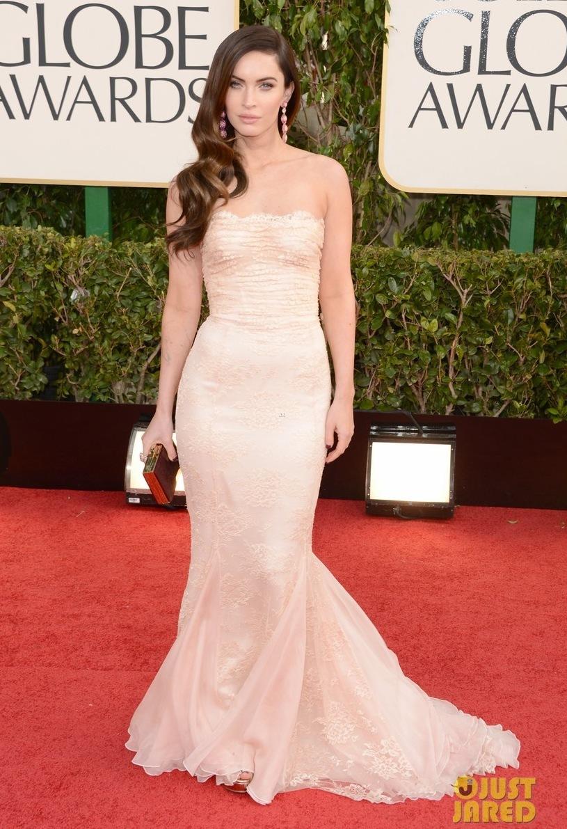 9dbf06b90d35 Wedding Dress Inspiration megan fox golden globes 2013 red carpet with  brian austin green 05