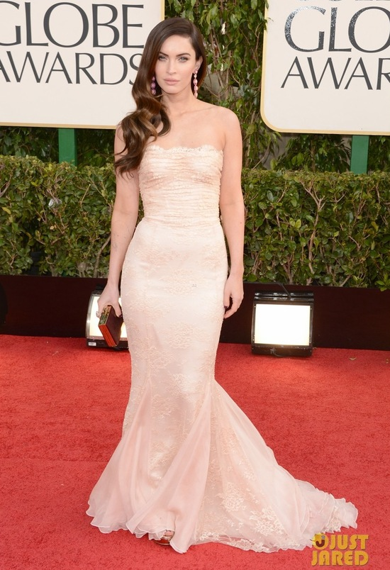 Wedding Dress Inspiration megan fox golden globes 2013 red carpet with brian austin green 05
