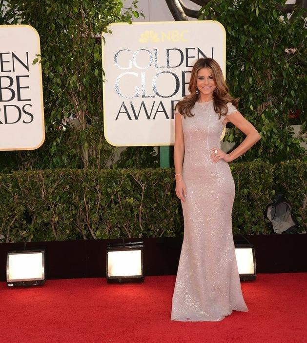 Heidi Klum 2012 Golden Globes Column Wedding Dress