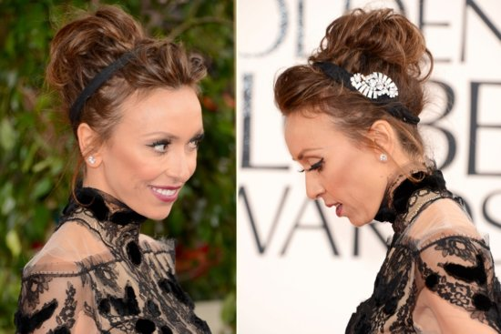 Messy Updo from the Golden Globes 2013
