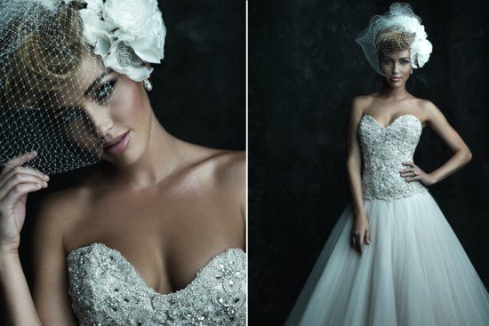 2013 Sweetheart Neckline Wedding Dresses Allure Couture C244