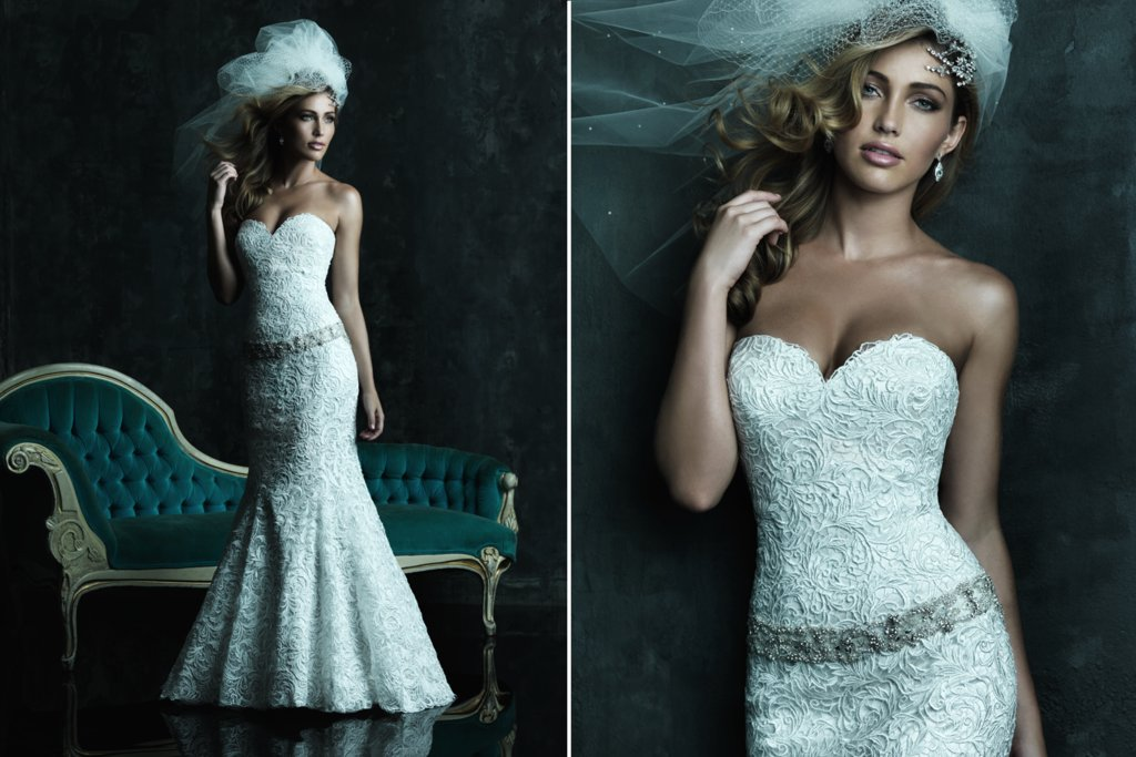 2013 Sweetheart Neckline Wedding Dresses Allure Couture C245