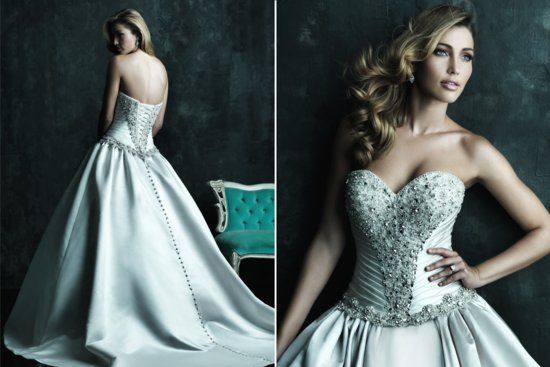 2013 Sweetheart Neckline Wedding Dresses Allure Couture C240 2
