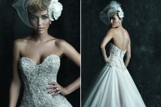 2013 Sweetheart Neckline Wedding Dresses Allure Couture C244 b