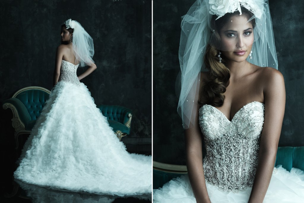 2013 Sweetheart Neckline Wedding Dresses Allure Couture C248