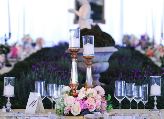 Beautiful Garden Wedding Table Details and Decor