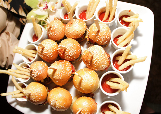 Sliders and Fries for Late Night Wedding Reception Guests
