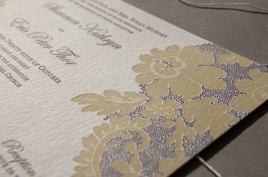 Elegant Vintage Lace Wedding Invites