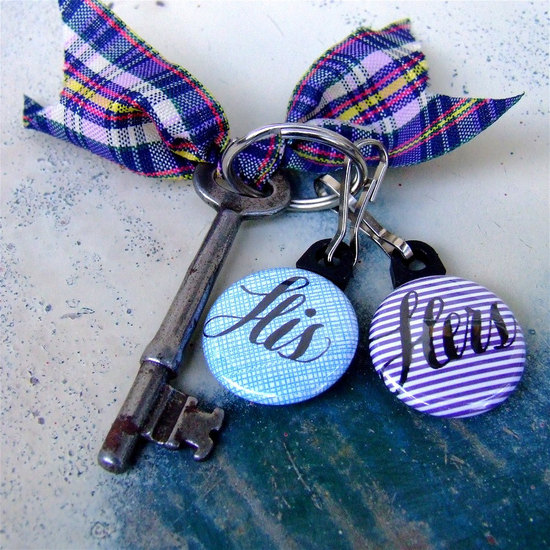 Skeleton Key Chain Wedding Favors