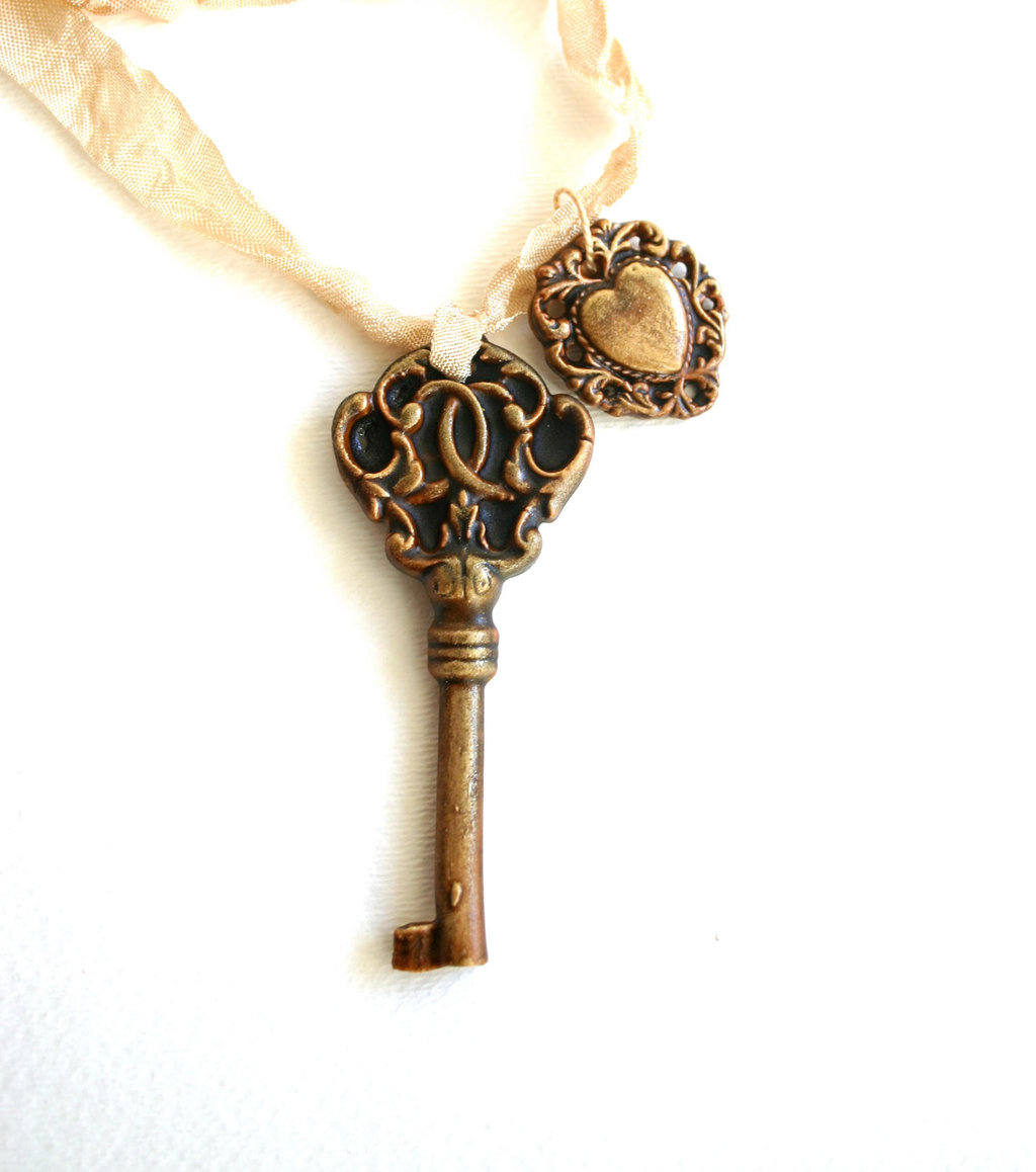 Chocolate Candy Necklace Wedding Guest Favors Skeleton Key