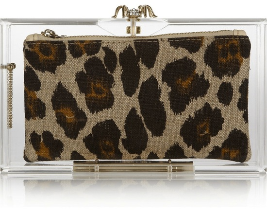 Animal Print Bridal Clutch