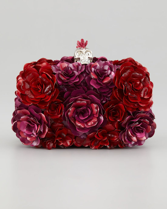 Red Rose Bridal Clutch by Alexander McQueen