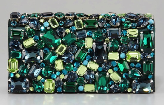 Emerald Green Bridal Clutch by Prada