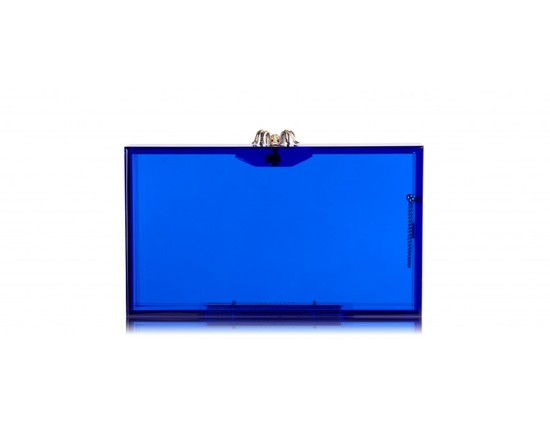 Blue Lucite Bridal Clutch