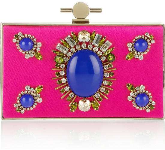 Pretty Pink Bridal Clutch embellished with jewels